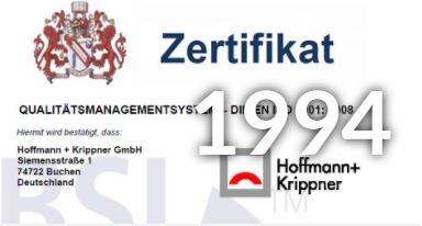 Hoffmann Krippner Certification