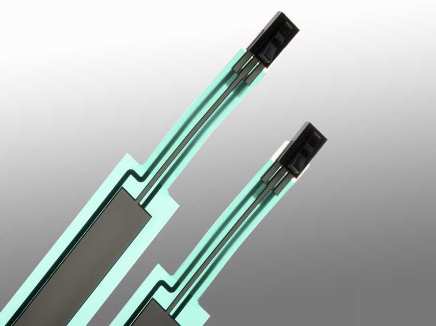 Sensofoil PET-Hybrid Connector Band Detail.